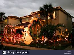 christmas decorations front garden night time twinkling lights