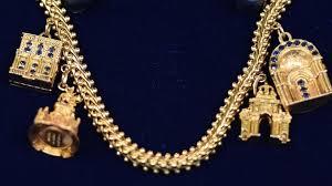 antique charm bracelet charms images European gold charm bracelet ca 1955 antiques roadshow pbs jpg