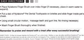 nylabone advanced oral care dog finger brush 2 pack chewy com