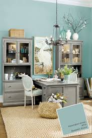 design fabulous blue wall paint plus interesting grey cabinet