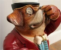 Animal Toilet Paper Holder by Dog Boxer Butler Toilet Paper Holder Holding His Nose Statue