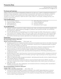how to write a professional summary for your resume professional environmental protection specialist templates to resume templates environmental protection specialist