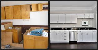 painted cabinets before and after unbelievable before and after painting kitchen cabinets with pict of