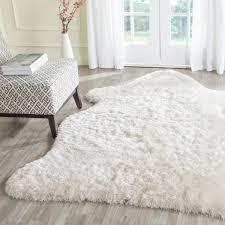 plush ivory shag rug arctic collection safavieh com