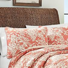 tommy bahama bed pillows tommy bahama orchid retreat pillow sham in coral bed bath beyond