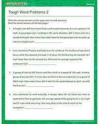 tough word problems 2 u2013 free online distance worksheet u2013 math blaster