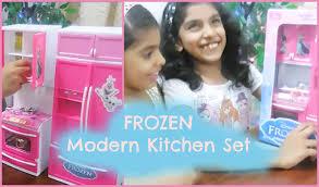 Modern Kitchen Set Unboxing Frozen Modern Kitchen Set Amazon In Youtube