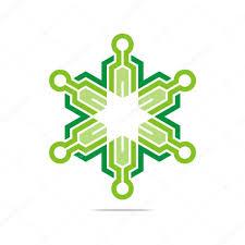 logo abstract symbol hexa connecting icon element vector u2014 stock