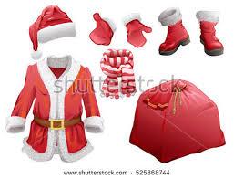 christmas accessories santa claus sleigh reindeer sled on stock vector 531651565