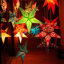 hanging paper christmas star with light buy paper christmas star