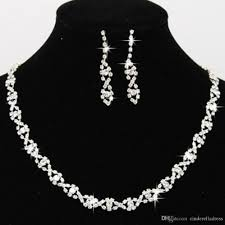 bridesmaid jewelry sets 2017 bling bridal jewelry set silver plated necklace