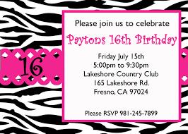 zebra print birthday invitations free printable invitation design