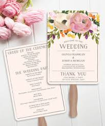 diy wedding program fan creative union diy fan wedding program
