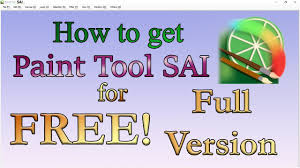 how to get paint tool sai for free full version 2017 youtube