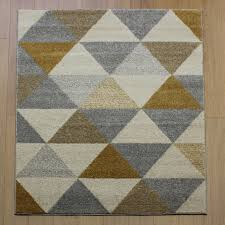 Modern Rugs Uk Accent Prism Yellow Abstract Rug Buy Rugs In The Uk