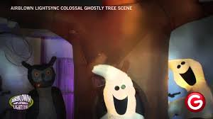 airblown light sync colossal ghostly tree scene youtube