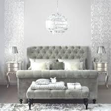 Velvet Bed Frame Grey Velvet Bed Frame 5ft King Size Bedstead Plain Grey Velvet