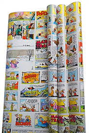 comic wrapping paper funnies wrap gift wrapping paper roll 12 5 square featuring