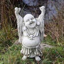 up laughing buddha garden ornament statue sculpture