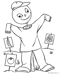 printable halloween scarecrow coloring pages 002