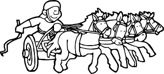 rome chariot coloring wecoloringpage
