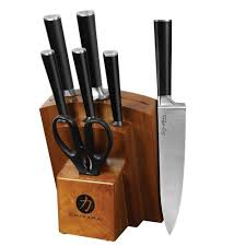 Ginsu Kitchen Knives Ginsu Chikara 8 Knife Set Cok Kb Ds 008 3 The Home Depot