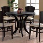 Round Espresso Dining Table Round Espresso Dining Table Havana Espresso Finish Ivory Padded