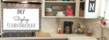 how to do backsplash in kitchen diy shiplap kitchen back splash vintage cottage