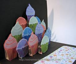extreme cards and papercrafting cupcake cake pop up card