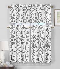 Gray Kitchen Curtains by Modern Kitchen Curtains Amazon Com