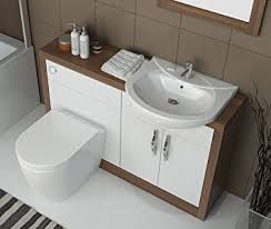 Bathroom City Luxury Designer Fitted Hacienda Wood Effect Vanity - Designer vanity units for bathroom