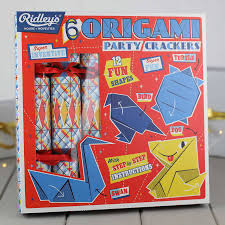 outstanding origami set of six party crackers by nest