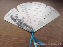 discount wedding programs discount fans 2018 wedding fans on sale at
