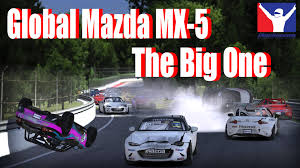 mazda global the big one global mazda mx 5 cup crash montreal iracing