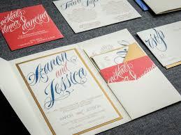 coral and navy wedding invitations script invitations modern