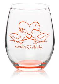 custom stemless wine glasses personalized wine glasses
