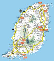 St Lucia Island Map Grenada Map