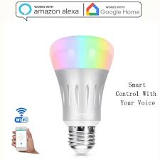 how do led light bulbs work smart led light bulb wi fi rgb multi color dimmable works with alexa