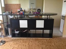 les de table ikea table de bar avec kallax ikea kallax bar and plan de travail