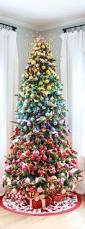 100 christmas trees decorated with ribbon stunning