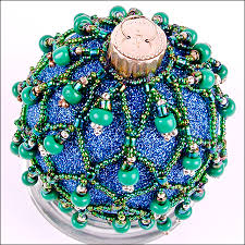christmas ornament countdown beaded glass ball crafty sisters
