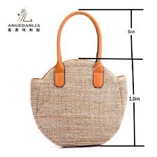amazon com straw bag tote angedanlia woman round handmade purse