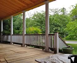 exteriors natural and decorative custom wood porch railings