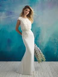 blouson wedding dress modest wedding dresses and conservative bridal gowns