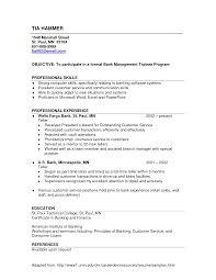 personal banker objective resume professional investment agreement doc
