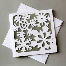 card snowflake lights card and decore