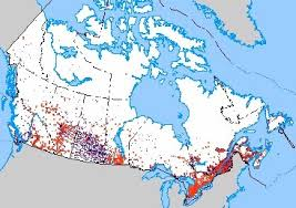 canadian map population distribution the physical geographic environment