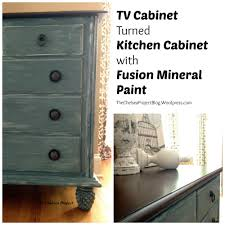 tv cabinet turned kitchen cabinet with fusion mineral paint tv