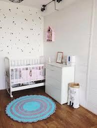 Pink Round Rug Nursery Round Hand Crochet Rug Rug Floor Rug Kids Room Rug Star Rug