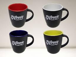 hippieradiostore set of four hippie ceramic coffee cups